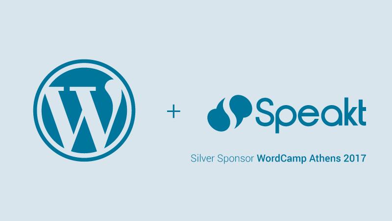 "Speakt.com is the Silver Sponsor at ""WordCamp Athens 2017"""