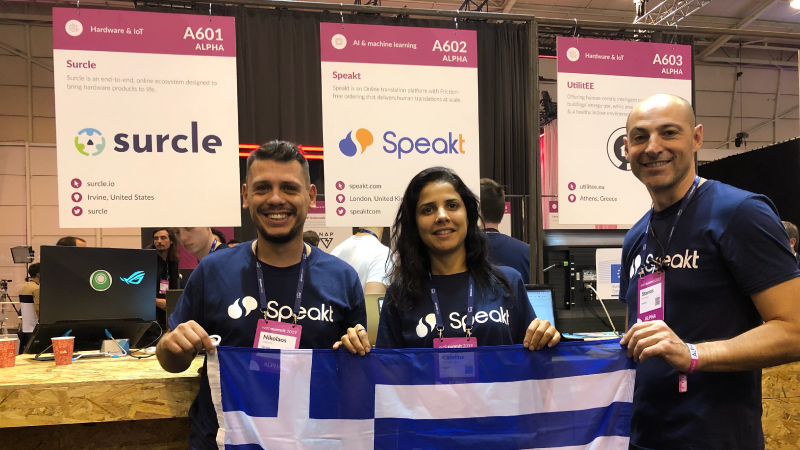 Speakt - WebSummit Greece