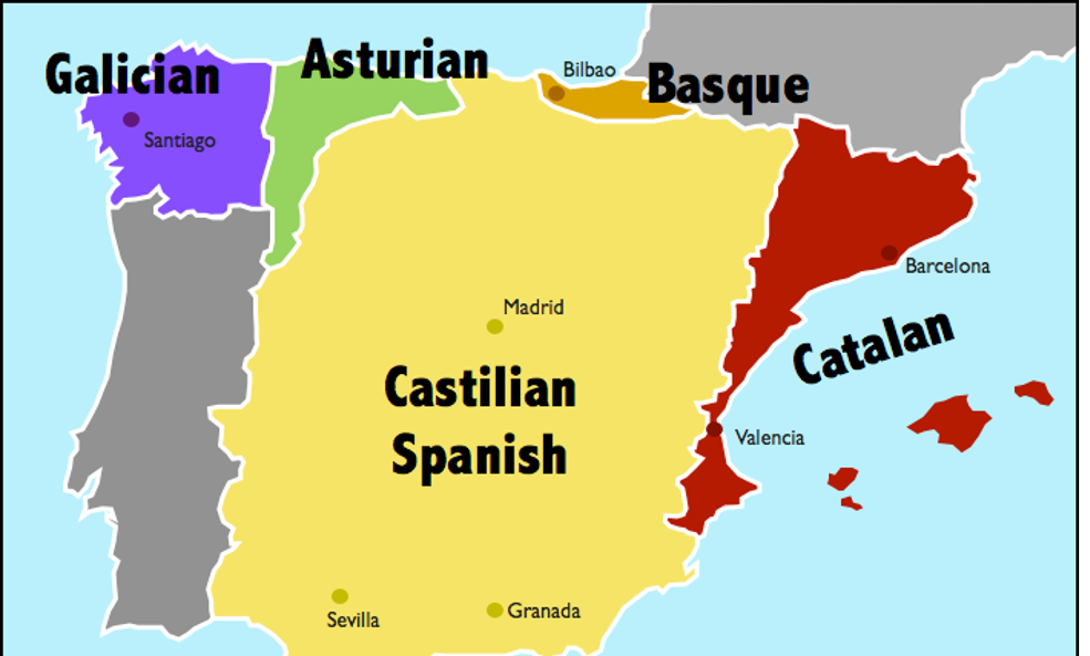 spain dialects areas